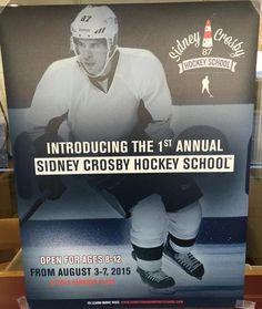 Sidney Crosby Hockey School in Cole Harbour in August