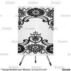 """"""" Vintage Boudoir Lace"""" Black & White_Lamps"""