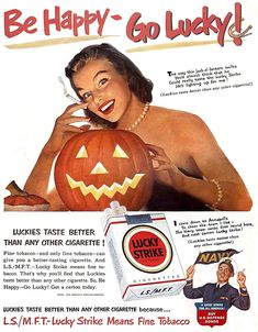 Lucky Strike cigarette advertisement published in the October 1, 1951 issue of Life magazine. Description from pinterest.com. I searched for this on bing.com/images