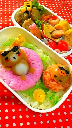 Summer vacation bento. OMG, this is so adorable.「流しそうめんな夜飯☆」の画像|LOVE弁 |Ameba (アメーバ)