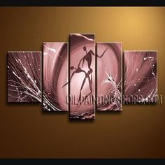 Stunning Modern Abstract Painting Oil Painting On Canvas For Bed Room Figure. This 5 panels canvas wall art is hand painted by Bo Yi Art Studio, instock - $165. To see more, visit OilPaintingShops.com