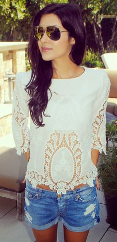 Lace top. Hair. Everything. Can I just be her?!