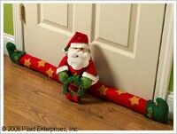 Bucilla Santa Door Draft ~ Felt Christmas Home Decor Kit #86114, Stars, Wreath