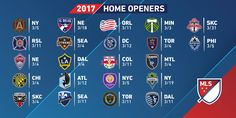 The 2017 home openers for each club!