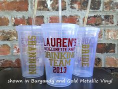 Personalized Bachelorette Party Tumbler 16 ounce -Drinking Team - PRIORITY SHIPPING