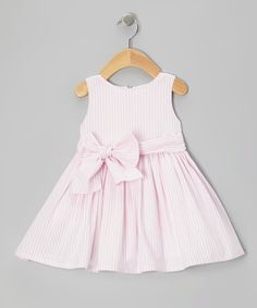 Take a look at this Light Pink Stripe Dress on zulily today!