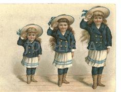 Edwardian children in sailor costume circa 1905