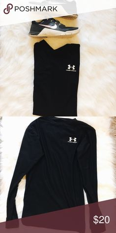 Under Armour Top •Cold weather under Armour top. Fitted top.   Size L  •In good, clean condition. Under Armour logo has minor cracking. Under Armour Tops Tees - Long Sleeve