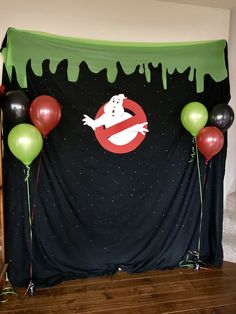 Ghostbuster birthday party- photo booth. I bought some printable props off Etsy.