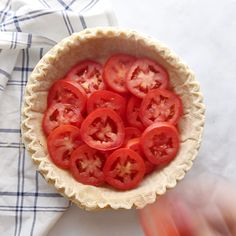A savory summertime Tomato Pie made by layering tomatoes slices, basil onion and a cheese spread into a pie crust and baking it until golden and bubbly. This is the perfect recipe for using up your excess fresh garden tomatoes! Tomato Dishes, Vegetable Dishes, Veggie Food, Quinoa Food, Healthy Vegetable Recipes, Quinoa Rice, Healthy Food, Baked Tomato Recipes, Recipes For Tomatoes
