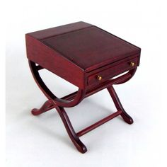 Dolls House Fine Miniature Study Furniture Mahogany British Explorers Desk