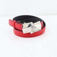 Payton Belt (BLT19 S/M/L) Gold Belts, Fiery Red, Skinny Belt, Brown Belt, Leather Fashion, Tan Leather, Color Pop, Studs, Fashion Jewelry