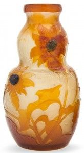 Galle Vase with Sunflowers Design