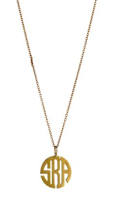 Adore this Charm & Chain monogrammed necklace