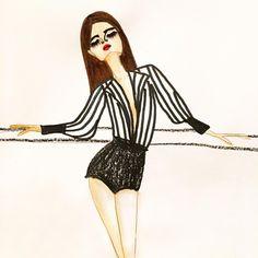 She's a babe ✨ . . . #Model #editorial #sketchbook #sketch #redlips #ss16 #fw16 #fashion #fashionista #fashionweek #fashionillustrator #fashionillustration #illustration #poolside #la #losangeles #art #pastel #acrylic #fashionart #fashionblog #vogue...