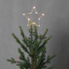 Pointe de sapin LED Topsy étoile métal, référence 1523355- Décoration, DIY et lumière de Noël chezLuminaire.fr!