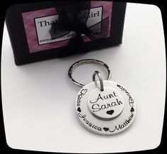 Aunt Gift, Gift for Aunt, Gift for Grandma, Gift for Grandpa, Gift for Dad, Gift for Mom, Custom Gift, Personalized key ring