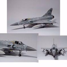Dassault Mirage 2000-5Ei Kinetic 1/48 Autor: 張家杰  #udk #usinadoskits #airplane #aeronave #miniatura #miniature #scalemodel #scale #plastimodelismo #tempolivre #hobby #passatempo #modelscale #mirage #kinetic #scalemodel