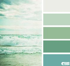 Color Palette More Sea Colour Green Paint