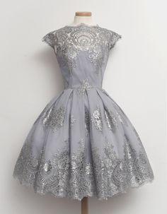 silver 50s dress - Google Search
