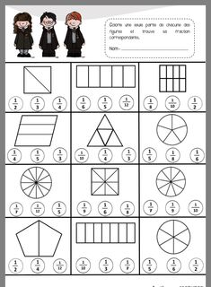 Worksheets 532902568393502480 - Les fractions – La Classe de Marybop Source by laetitiaiafrate Math Fractions Worksheets, 3rd Grade Math Worksheets, Third Grade Math, School Worksheets, Math Patterns, Gymnasium, Homeschool Math, Math For Kids, Elementary Math