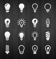 A cool set of 16 light bulb icons provided as Photoshop vector shapes. Free PSD designed by Azis Hertanto. Design Ios, Flat Design Icons, Icon Design, Logo Design, Graphic Design, Flat Icons, Dashboard Design, Logos, Design Thinking
