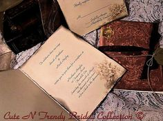 Venice Vintage inspired wedding Invitation Book by cuteNtrendy, $5.50
