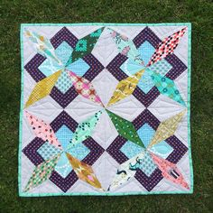 Cotton and Steel Mini Quilt swap on Flickr| by Debtrail