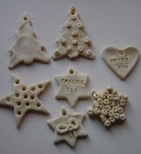 Making figures : 1 cup of water / 1 cup salt / 3 cups white flour / 1 tea-spoon oil Christmas Favors, Christmas Time, Christmas Crafts, Xmas, Fun Crafts For Kids, Diy For Kids, Homemade Clay, Salt Dough, Creative Kids