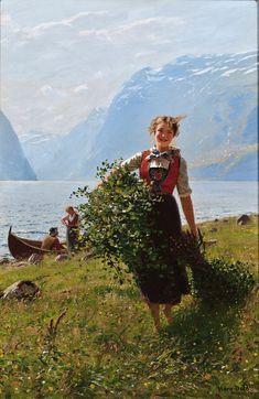Flirtation - Hans Dahl - (Norwegian, 1849 - 1937)