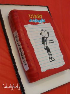 Diary of a Wimpy Kid cake :)