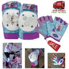 Protective Gear Card Pads Knee Elbow Disney Frozen Purple Safe Bike Kits Kids US…