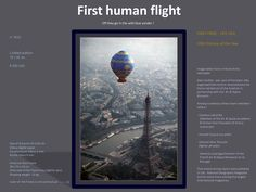 Award winning photograph from Alain Guillou on the aviation birth reconstitution of the first human flight over Paris