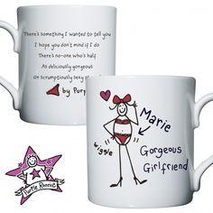 Valentines Day Gift Ideas - Personalised Purple Ronnie Gorgeous Girlfriend Mug - £9.99