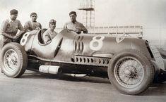 Tazio Nuvolari driving for Alfa Romeo (Scuderia Ferrari) at the Vanderbilt Cup…
