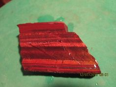 Red Chatoyant Tiger Eye Cab Slab Rough Thick Cut by mnblarneystone, $17.00