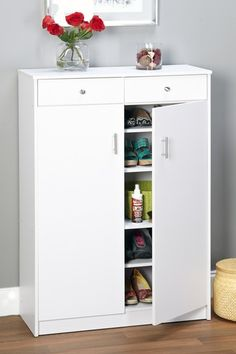Beautiful White Shoe Cabinet By Target Marketing Systems On