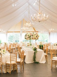 wedding tent reception under white tent tall centerpieces with roses elegant chandeliers rebecca arthurs photography Tent Reception, Outdoor Wedding Reception, Wedding Receptions, Wedding Tent Lighting, Backyard Tent Wedding, White Tent Wedding, Outdoor Tent Wedding, Wedding Ceremonies, Outdoor Weddings