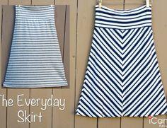 (tutorial and pattern) Everyday Basics 1: The Everyday Skirt - iCandy handmade