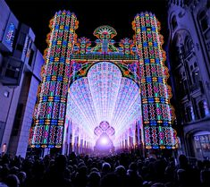 LED Cathedral in Ghent, Belgium