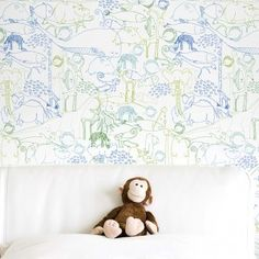 Repositionable Wallpaper A Thousand Animals