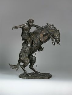The Broncho Buster by Frederic Remington (1909) Metropolitan Museum of Art