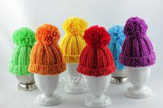 Eierwärmer - Eierwärmer Wollmütze Farbwahl - ein Designerstück von Inezza-Geschenke bei DaWanda