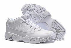 "be9187ee7892a3 Mens Air Jordan 9 Low ""White Chrome"" Discount Rttje"
