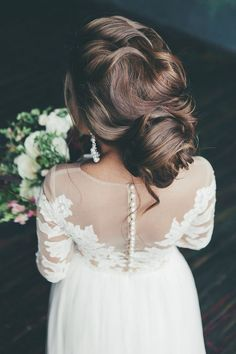 Long Wedding Hairstyles and Bridal Updo Hairstyles for Long Hair from elstile-spb / http://www.deerpearlflowers.com/striking-long-wedding-hairstyle-ideas/