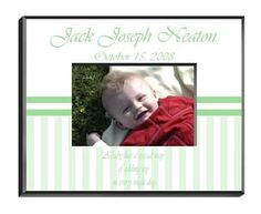 Personalized Children's Frames - Green Stripes -- Check out this great product. (This is an affiliate link and I receive a commission for the sales)