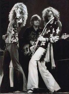 Robert Plant, John Paul Jones and Jimmy Page of Led Zeppelin.