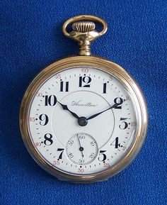 Hamilton Pocket Watch Peerless model 17 jewels made for the Electric Railway service