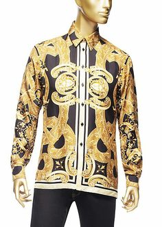 1000 images about silk shirts on pinterest baroque blue gold and versace men. Black Bedroom Furniture Sets. Home Design Ideas