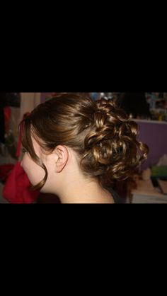 Semi formal updo for school event